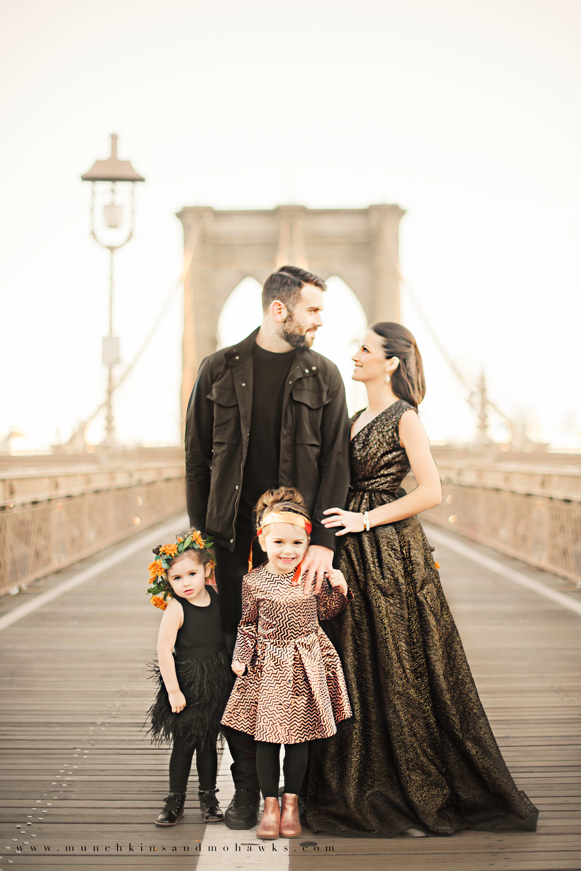 new york city children and family photographer brooklyn bridge